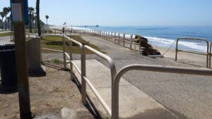 Along Huntington State Beach.