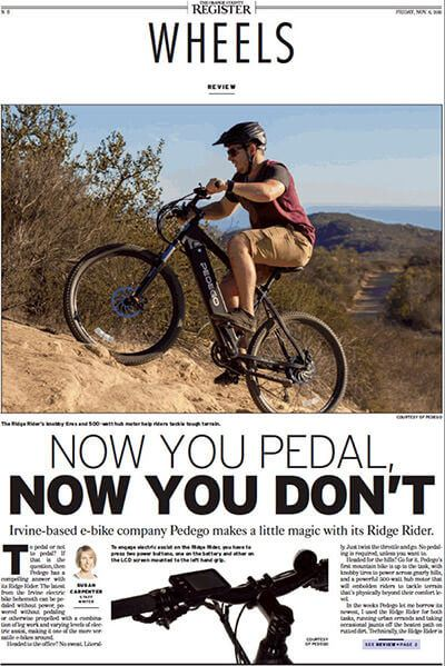 OC Register Ridge Rider Article