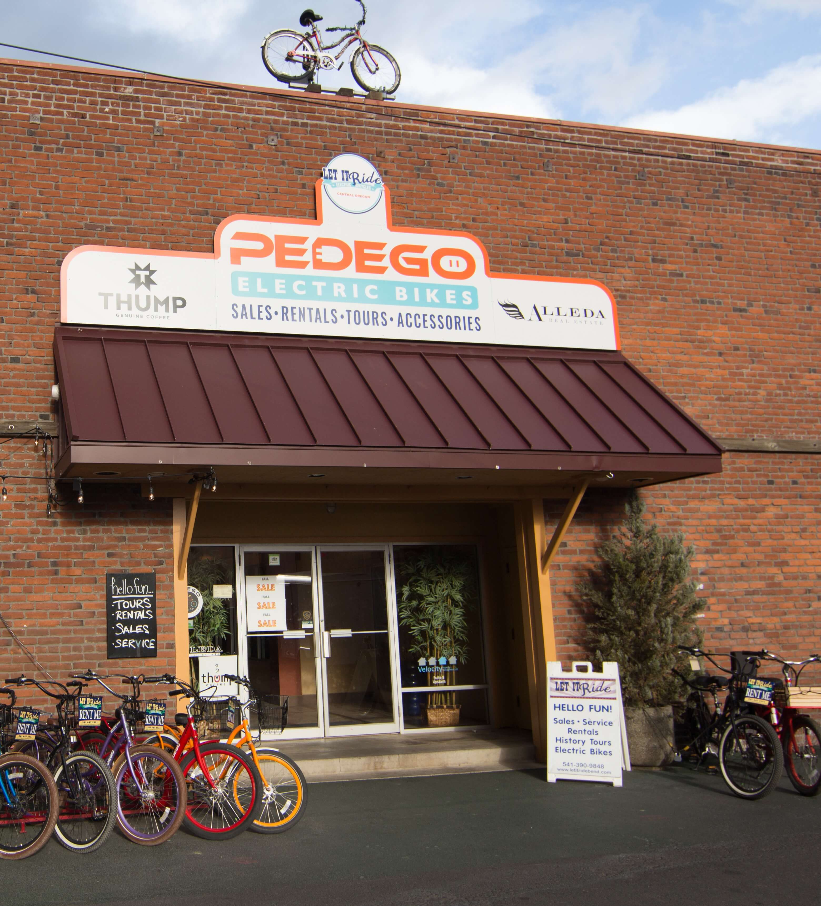 Pedego Bend Store Front cropped