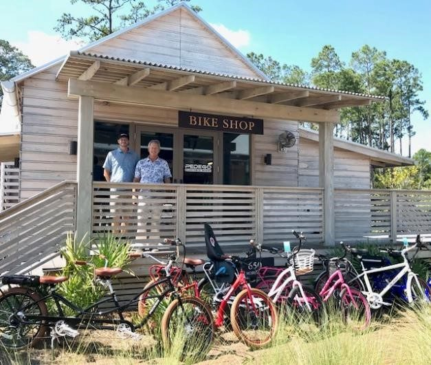 Pedego Palmetto Bluff owner Mike Overton shows off his fleet of stylish Pedego electric bikes.