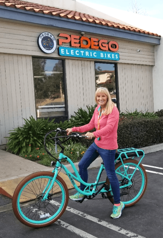 Susie Fraize, co-owner of Pedego Upland