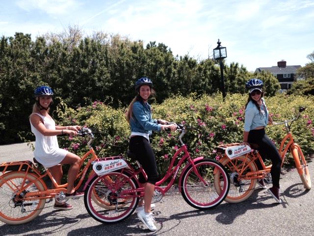 Friends on Pedego e-bike rentals in Cape Cod