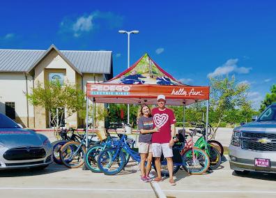 Amanda & Jason, owners of Pedego West Houston