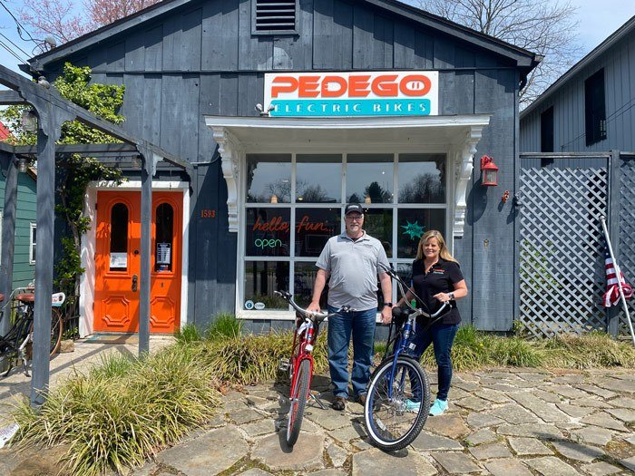 Keith and Nancy, owners of Pedego Peninsula