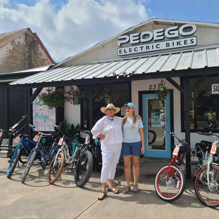 Kristen Pokky and her daughter Eliza, owners of Pedego New Braunfels